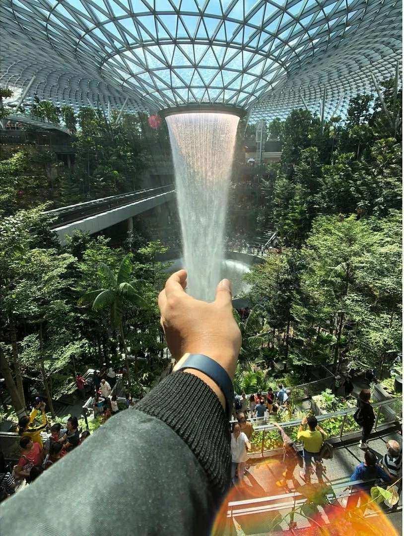 World's tallest indoor waterfall the Rain Vortex